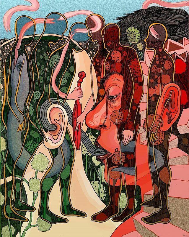A fabulous illustration by Eva Redamonti (@evaredamonti_art) for Lowell Chamber Orchestra's performance of Stravinsky's 'Soldier's Tale'. • #evaredamonti #illustration #posterdesign #illustrator #inktober #surrealartwork #artlover #musiclover #strav… https://ift.tt/31cyiUh