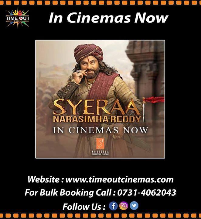 Experience the epic tale of SyeRaa in theatres now. Book Now : http://timeoutcinemas.com @SrBachchan #DrChiranjeevi @KicchaSudeep @DirSurender #VijaySethupathi #JagapathiBabu @ravikishan #Nayanthara #Tamannaah #Niharika #TimeOutCinemas @TimeOutCinema @tamannaahspeaks