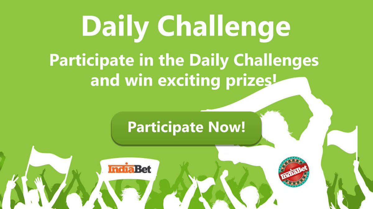 Participate in the Daily Challenge & win #Indiabet merchandise  Participate from:  http:// indiabet.com/challenge/c1220      #DailyChallenge #challenge #ContestIndia #participate #sportstudio #WINNER #SportsCenter #challengecup<br>http://pic.twitter.com/rzXH4jGmpZ