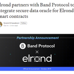 Image for the Tweet beginning: .@ElrondNetwork partners with @BandProtocol to