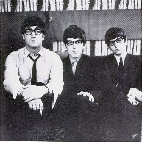 #JohnLennon, #GeorgeHarrison and #RingoStarr with glasses, 1963 #TheBeatles https://t.co/QgeSEXQPu2