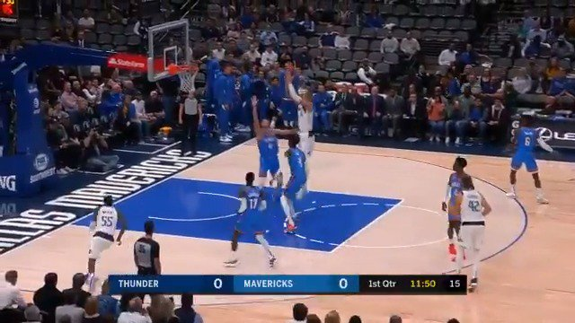 #RT @NBA: The @dallasmavs top OKC at home behind @luka7doncic & @kporzee! #NBAPreseason   Luka: 19 PTS, 10 REB, 7 AST KP: 17 PTS, 13 REB
