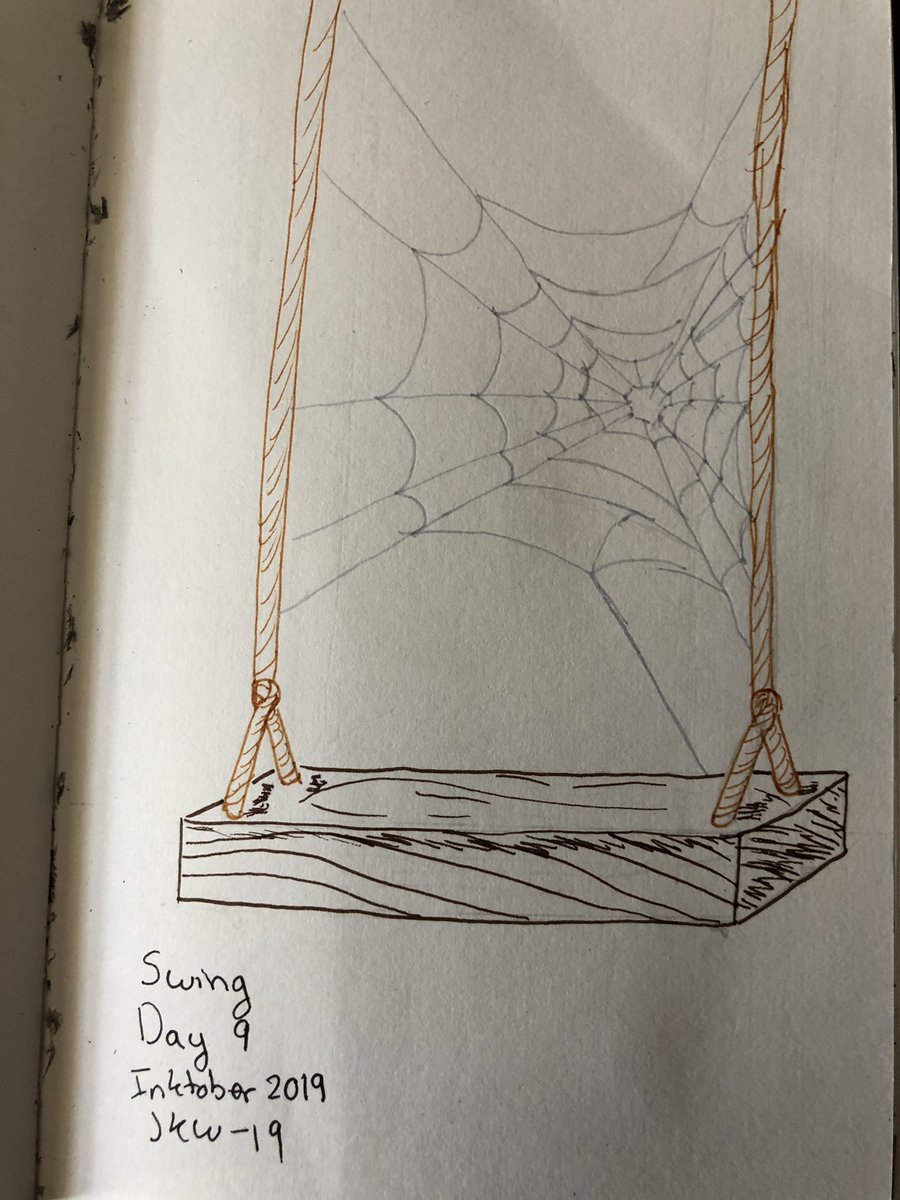 Yeah this is typical for me get behind in posting and post a bunch at once. Oops #swing #Inktober2019 #Inktoberday9 https://t.co/uRUkltmseB