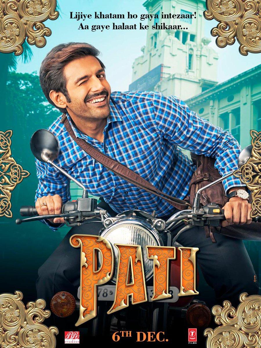 Kartik Aaryan as #ChintuTyagi from #PatiPatniAurWoh... Costars Bhumi Pednekar and Ananya Panday... Directed by Mudassar Aziz... 6 Dec 2019 release.