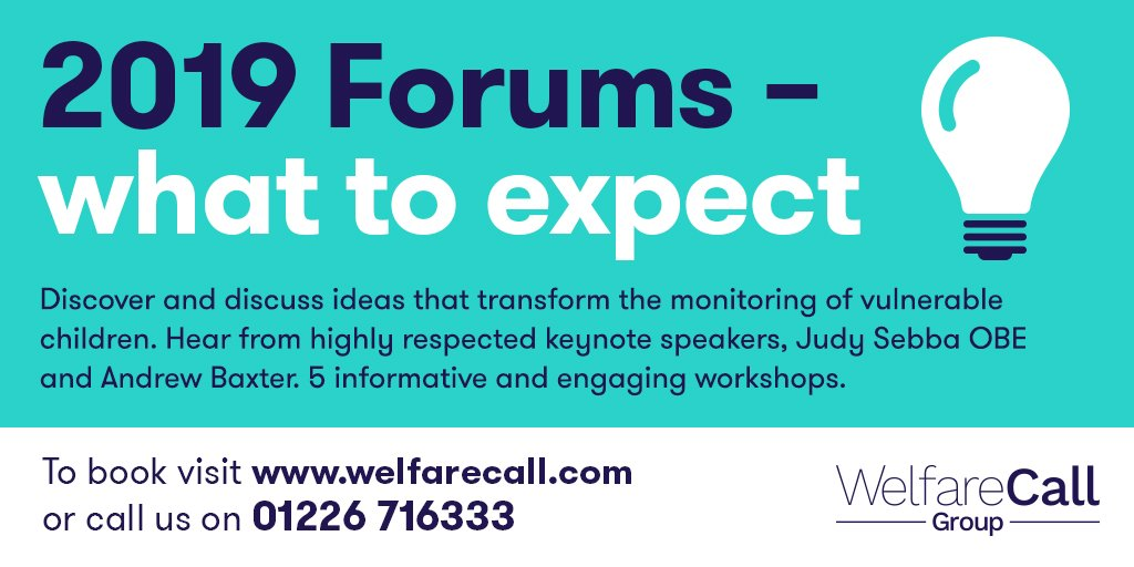 Our annual forums are nearly here!  London 8 Nov, Leeds 22 Nov. More info & to book https://welfarecall.com/forum-2019/  #lookedafterchildren #forum #datefordiary #london #leeds #positiveoutcomes #vulnerablegroups