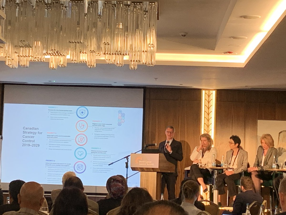 Achieving equity in #UHC: Craig Earle from the @CancerStratCA highlights #cancer priorities specific to #FirstNations, Inuit and Metis, reflecting Canada's commitment to reconciliation. @WCLS2019