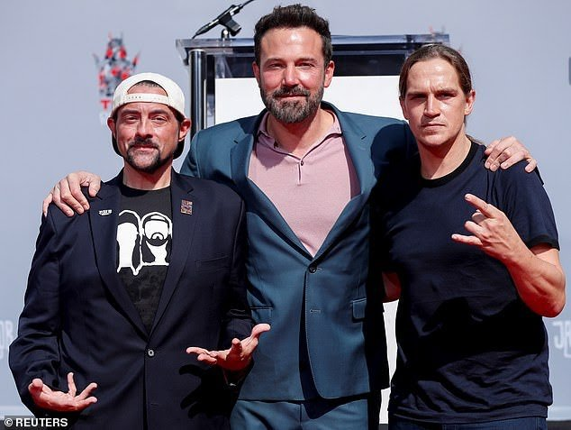 Ben Affleck with Kevin Smith and Jason Mewes (14/October/2019)<br>http://pic.twitter.com/m8XXUt7kiN