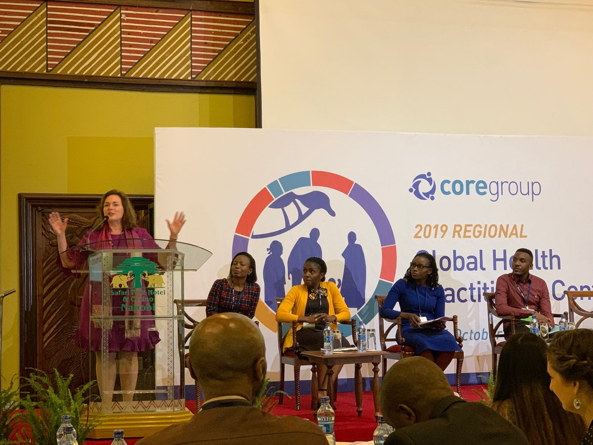 @lisa_hilmi Executive Director of @COREGroupDC formally opening the 1st CORE Group Regional GH Practitioner Conference in Nairobi! #GHPCKenya #LeverageLinkLearn #UHC