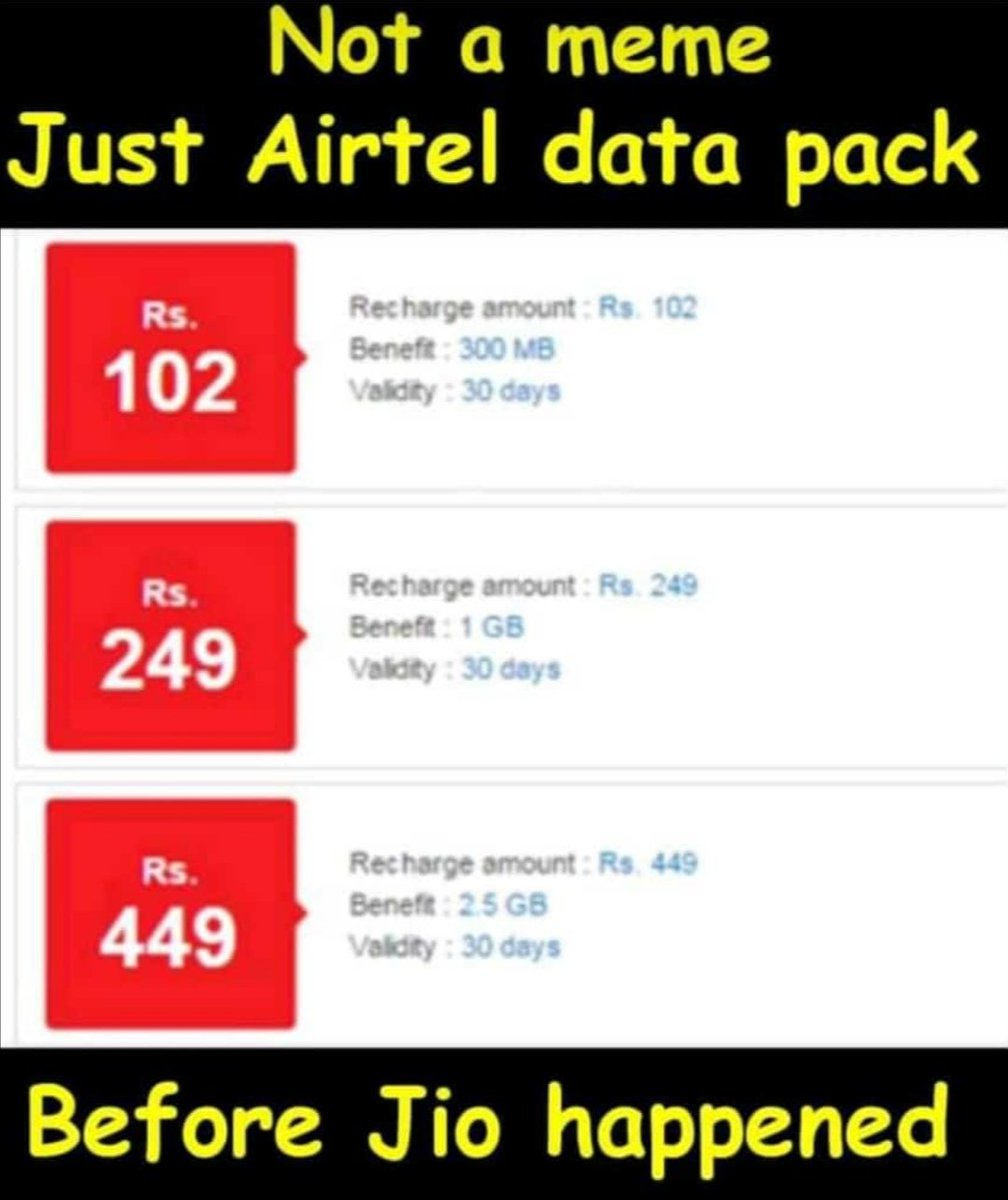 True that... 😄 #RelianceJio  #Airtel //Copied// https://t.co/egQYDzjmo0