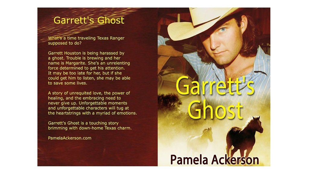 Buried alive! The story of the courageous ghost who haunts a time traveling Texas ranger to find her killer.  ➖ Garrett's Ghost ➖  #NewRelease from #bestselling #author @pamackerson Grab your copy today!  https://amzn.to/2UJsD4Y    #newbook #timetravel #romance #amreading