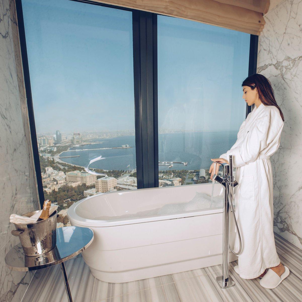 Bath with the mesmerizing view after a long day exploring Baku city.  #fairmontbaku #fairmontmoments #flametowers #baku #azerbaijan #accorhotels #luxuryhotels #besthotels #luxurytraveller #luxurytravellers #bath #bathwiththeview https://t.co/KOqhuTHBmf