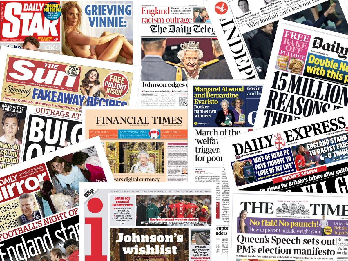 Morning everyone, Boris and football take centre stage this on some of this morning's front pages. All kicking off in 10 minutes, do join me if you can?   #frontpagestoday #UK #SneakPeek #buyapaper #papers #news #press  #frontpages