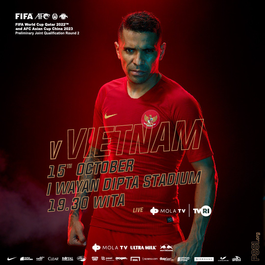 #TODAYMATCH #WCQ2022 INDONESIA vs VIETNAM K.O 18.30 WIB TVRI LIVE
