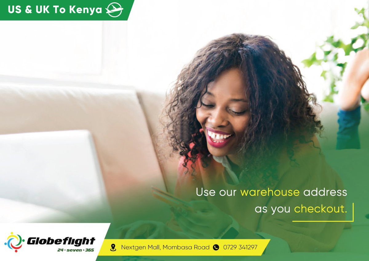 To shop from online stores in the #US & #UK, simply use our respective warehouse address as you checkout. We'll consolidate and ship your goods to #Nairobi within 14 days. #AmazonToKenya #eBayToKenya 0729 341277