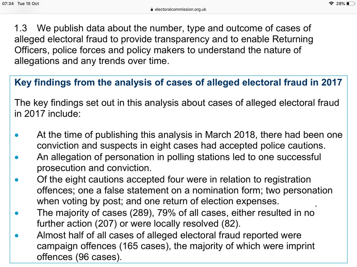.@BorisJohnson  Electoral fraud is negligible! You can read the facts on the electoral commission website   With the #StateOfCare and A&Es in this country, put your energies & taxpayers money into serving UK citizens not LIES, #VoterSuppression nor FASCISM!  #ToryVoteRiggers <br>http://pic.twitter.com/uWWR70OoDs