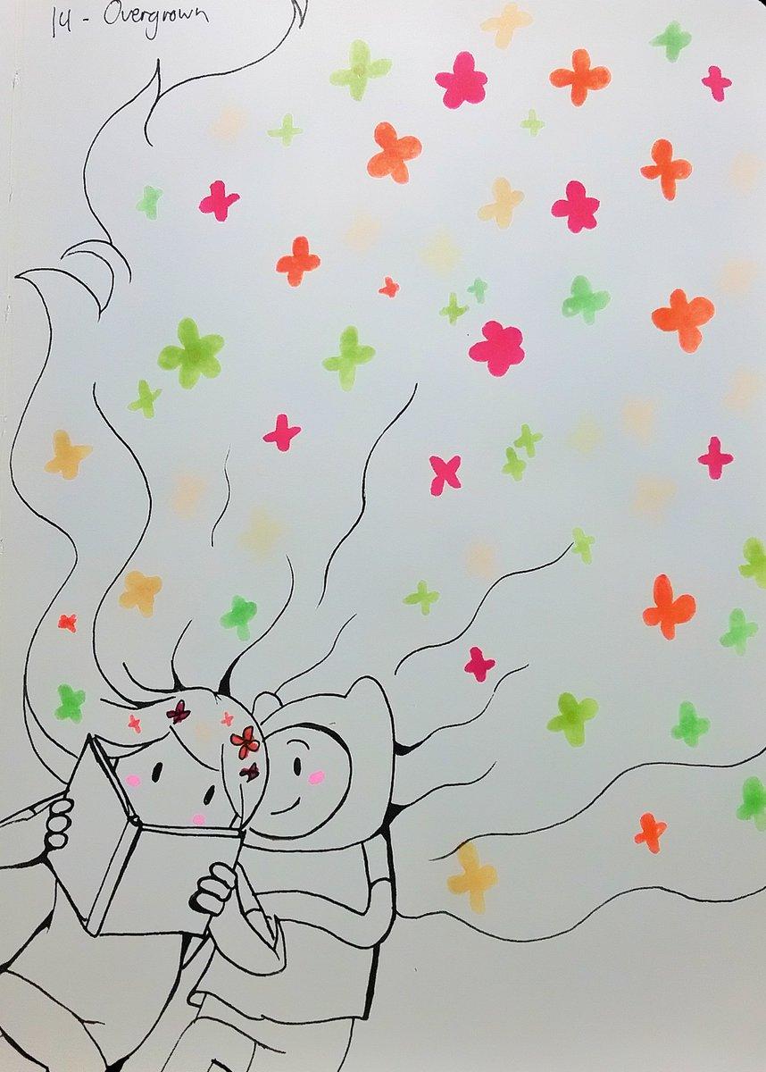 Inktober Doodle Day 14: Overgrown  #AdventureTime #FinntheHuman #FerntheHuman #finnfern
