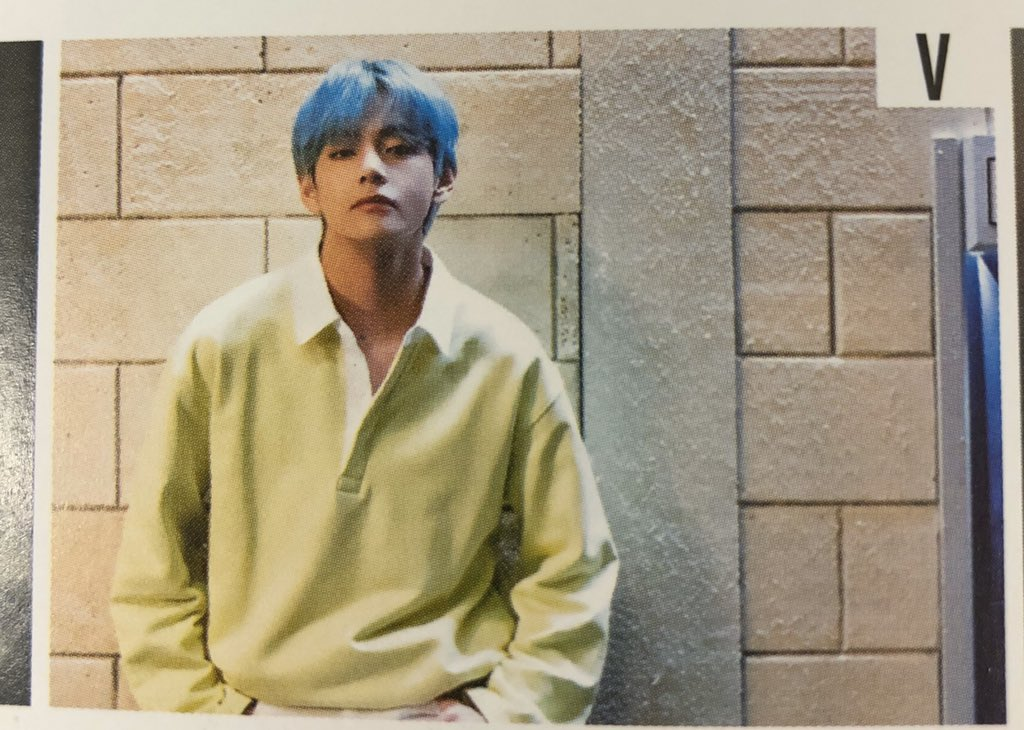 """[TRANS] BTS JP FC Magazine (Taehyung, in regards to the scene from the """"Lights"""" music video, pictured below) V: This is the scene where I'm waiting for our beloved* member, Jimin. Please watch the MV plenty of times! *other meanings: lovely, dear, darling, precious, sweet, etc."""