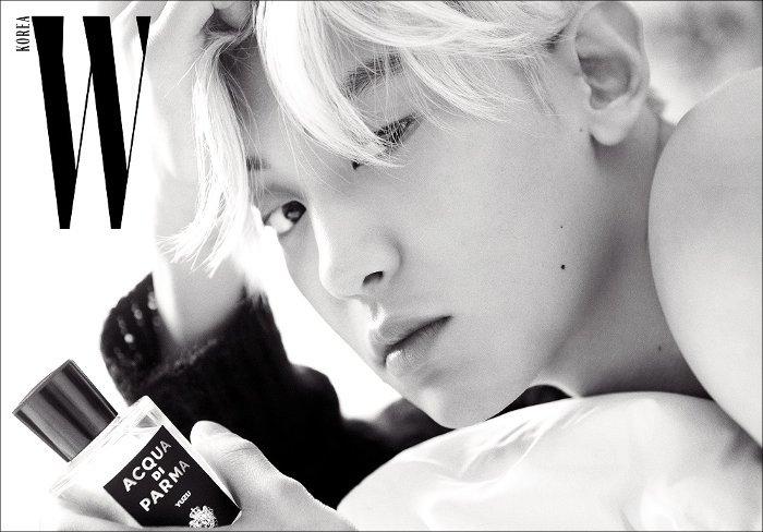 exo schedule s tweet upcoming release 📙 chanyeol for w korea