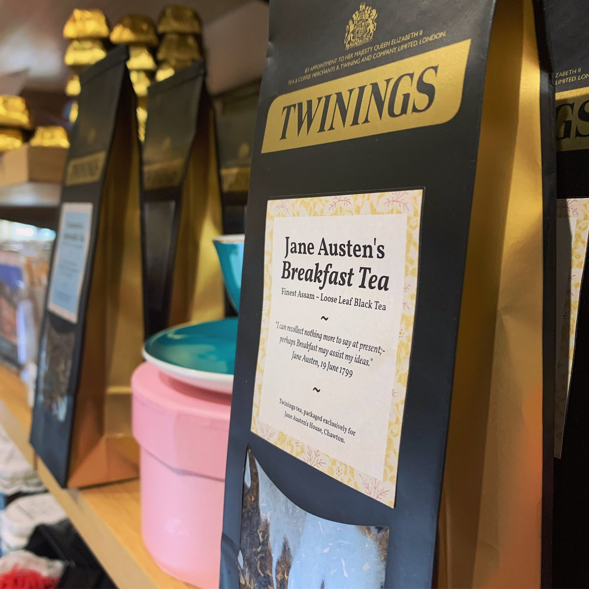 Do you have a tea drinking #JaneAusten fan in your life? If so, we have the perfect Christmas gift idea for you! We've just launched three Jane Austen teas, exclusively packaged for our Gift Shop by @TwiningsTeaUK. We're off to put the kettle on... ☕️