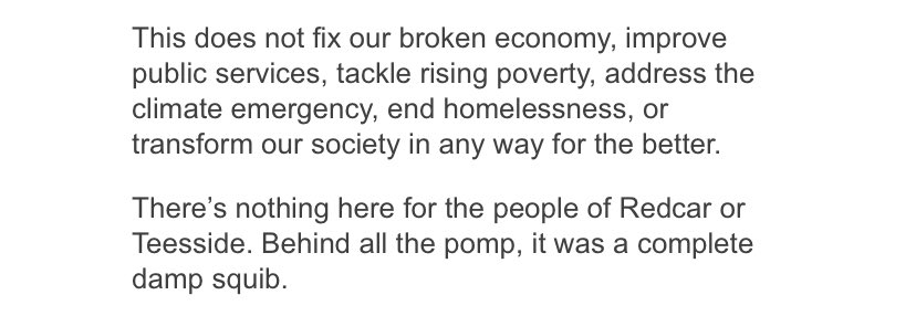 Once again, @annaturley hitting the nail on the head of yesterday's events. 👏