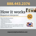Image for the Tweet beginning: How to request an interpreter?