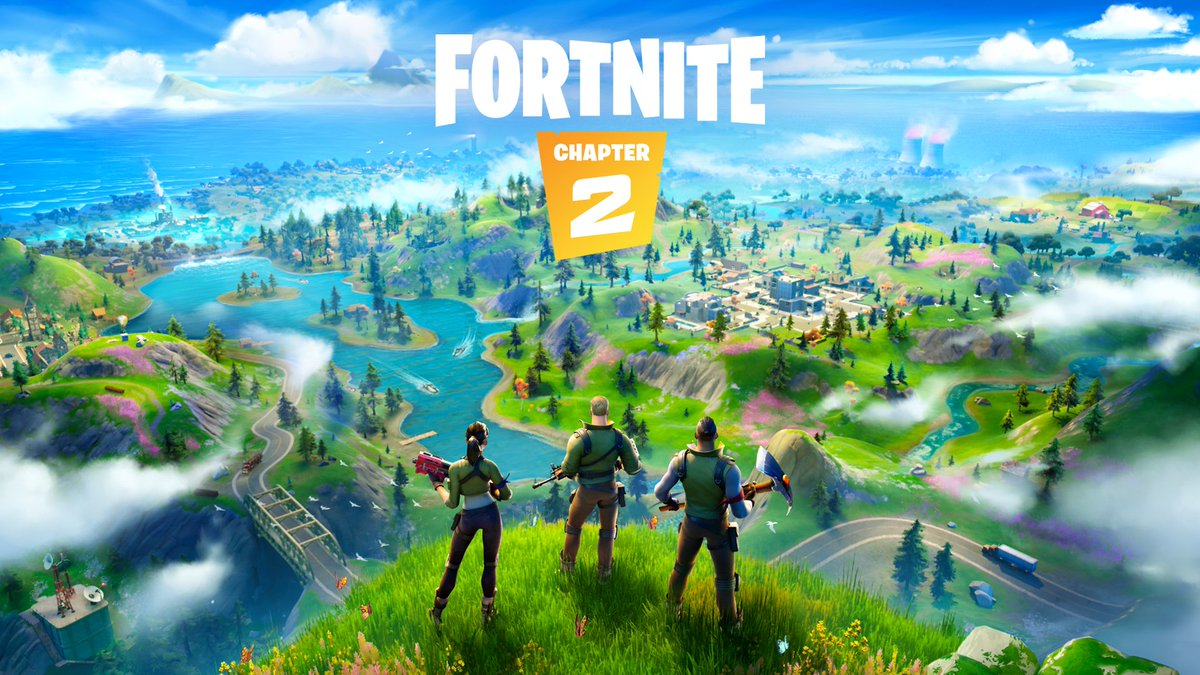 "RT <a href=""https://twitter.com/FortniteGame"" rel=""nofollow"" target=""_blank"" title=""FortniteGame"">@FortniteGame</a>: Drop into a New World 🌎   Fortnite Chapter 2 is available now.  Share your <a href=""https://twitter.com/search?q=FirstDrop"" rel=""nofollow"" title=""#FirstDrop"" target=""_blank"">#FirstDrop</a>! https://t.co/azURjtP8Cs."