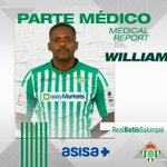 Image for the Tweet beginning: 🚑 PARTE MÉDICO | William