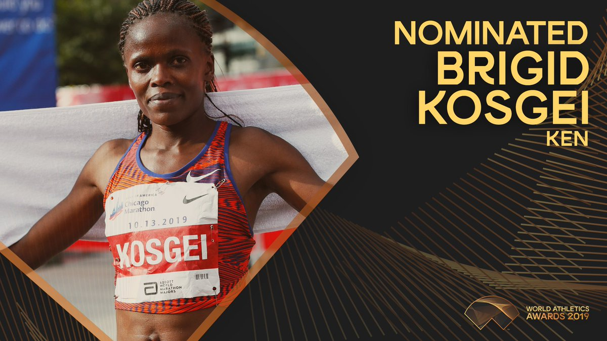 ✨ #AthleticsAwards announcement Brigid Kosgei is one of 11 nominees for Female Athlete of the Year 2019. Retweet this post to vote for her 🗳