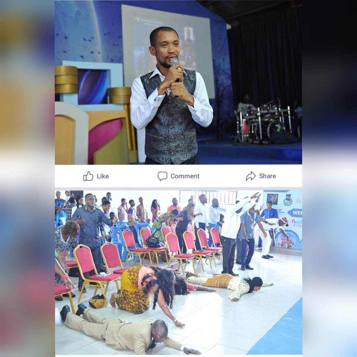 On Sunday... Christ Embassy Oyigbo never remained the same again! The anointing was so tangible! Thank you dearly Pastor Oliver for having us @_israelclement #holyspirit <br>http://pic.twitter.com/xsC3P5BPSe