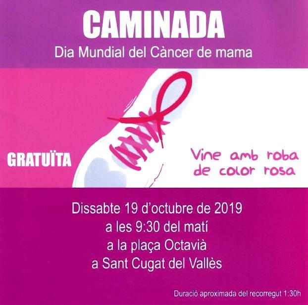 Aquest dissabte vine de rosa i participa a la Caminada del #DiaMundialvsCàncerdeMama La marxa solidària sortirà a les 9:30h de la Plaça Octavià i recorrerà alguns dels principals carrers de #SantCugat   👉 https://t.co/7vGGK48Mgf  @GemmaAristoy @aecc_es @OncolligaCAT @FSalutPlus