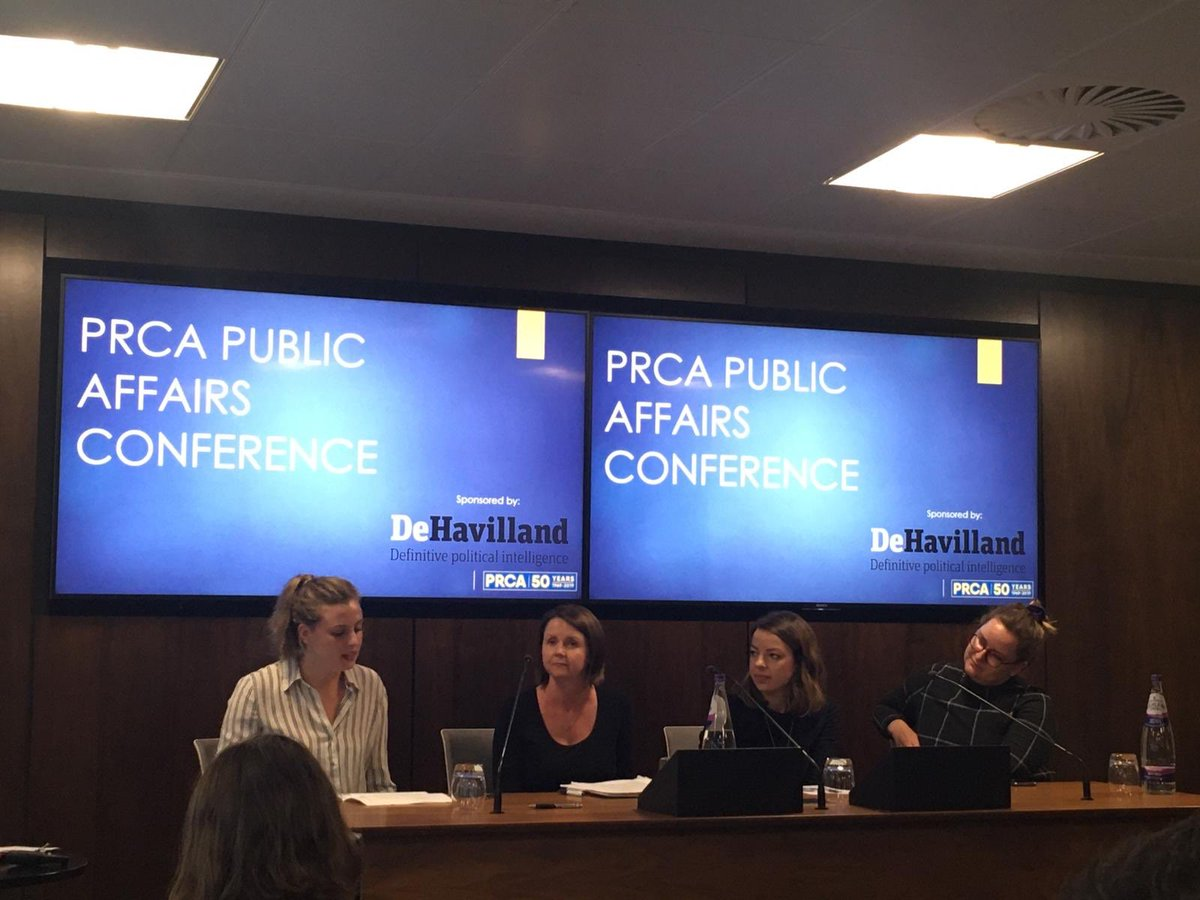 Fantastic panel with @PRCA_UK discussing ethics, social media and how to lobby in a time of such instability