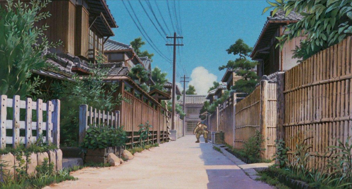 Backgrounds from Grave of the Fireflies (火垂るの墓, 1988, Studio Ghibli, art director : Yamamoto Nizo )