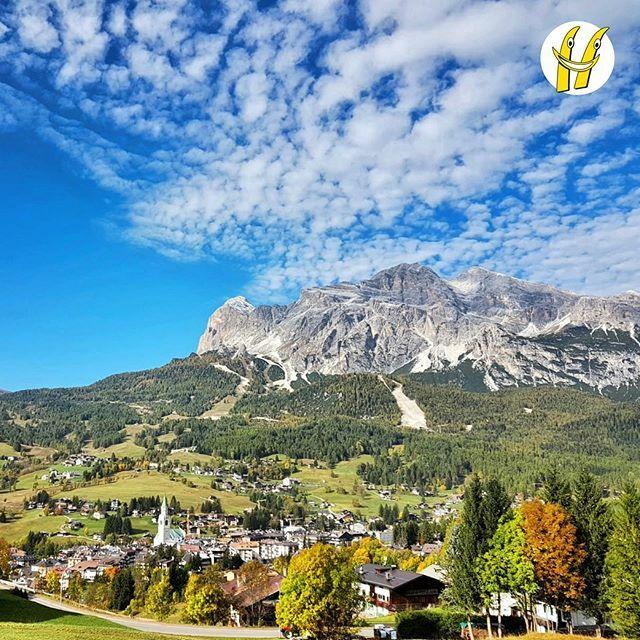 I colori dell'autunno sulla valle Ampezzana.