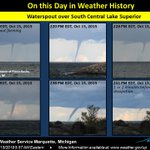 Image for the Tweet beginning: On this day in weather