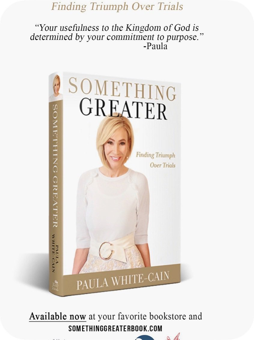 .@Paula_White new book is out today! somethinggreaterbook.com