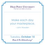 [CALENDAR] #DailyMotivation from John Wooden. #HPU365