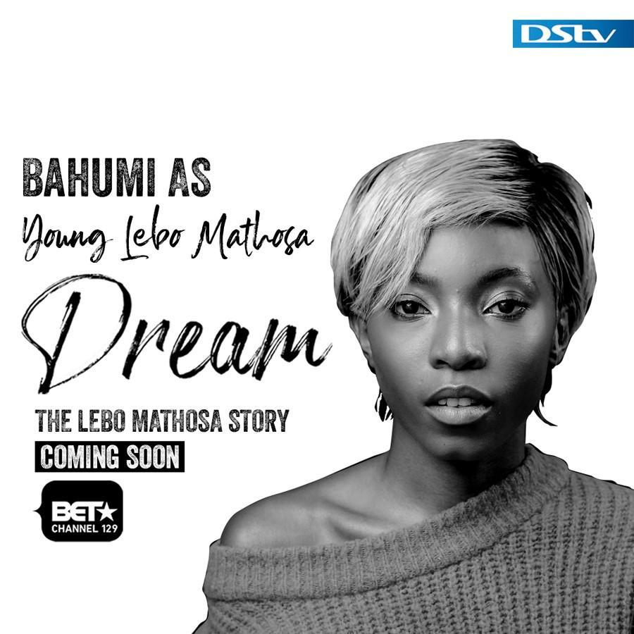 Dream: The Lebo Mathosa Story, 6 November at 21:30. The talented @Bahumi plays young Lebo. #LeboMathosaBET