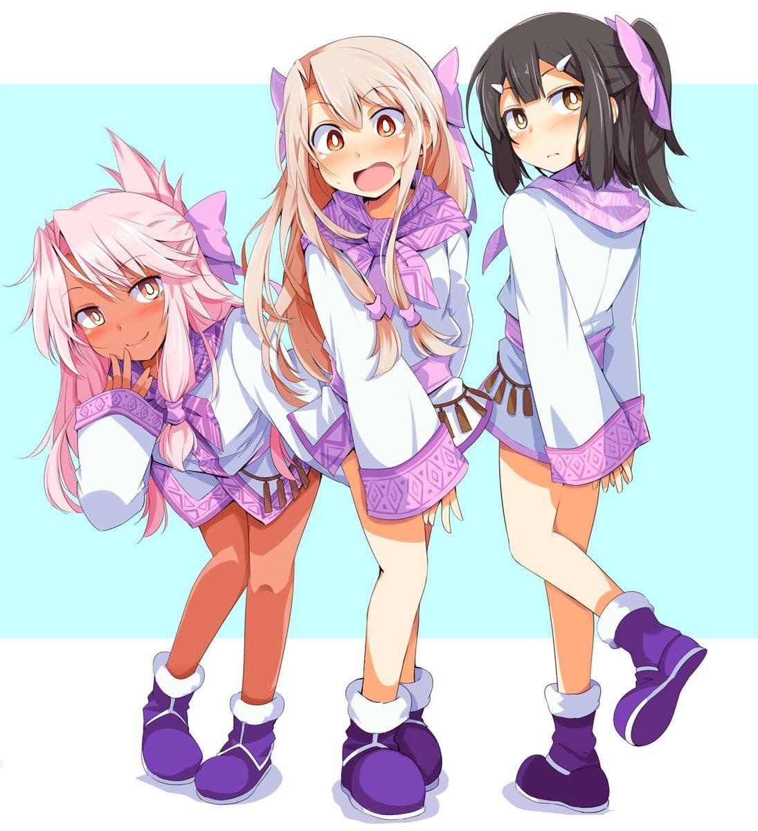[FGO] それぞれのリアクションも良いプリズマ・シトナイ3姉妹!!