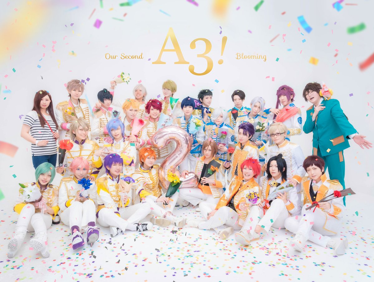 【Cosplay】A3!  Act Addict Actors           2nd Anniversary!!  #A3にーてんご周年0803<br>http://pic.twitter.com/BaxFj2zUPy
