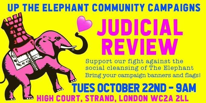 To book a place on the Up The Elephant Campaign JR coach trip to The High Court next Tues 22nd Oct please follow the instructions in the FB link. You just need to text to book a place: facebook.com/events/2400323…