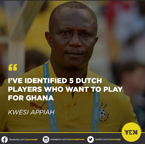 After a few days of touring Europe, Black Stars coach Kwesi Appiah says he has discovered five Dutch-born Ghanaian footballers who are ready to play for Ghana. #yennews #Blackstars 🇬🇭🙌