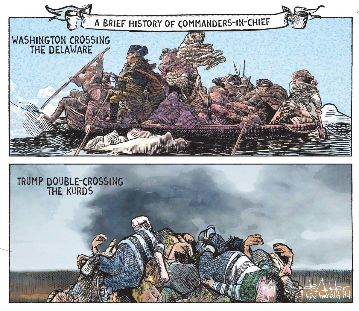 Cartoon for @chronicleherald #Trump #Kurds #KurdsBetrayedByTrump #KurdsBetrayed #uspoli<br>http://pic.twitter.com/x1Yxvh7G1u