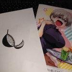 宇崎ちゃんクリアファイルにブラジャーを書いた紙をいれてみた