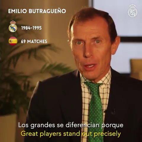 📺✨ Légendes du @realmadridfra et de la Roja, comme @RaulGonzalez, @ButraguenoRM ou @IkerCasillas, félicitent le capitaine @SergioRamos dans cette vidéo pour ce nouveau record. #SRecord168 | #HalaMadrid