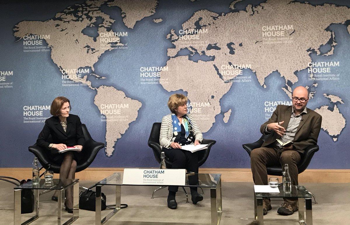 Huge thanks to @ChathamHouse for hosting this discussion on the International Law Commission's draft principles on the protection of the environment in relation to armed conflicts. Some great questions from the floor. #PERAC