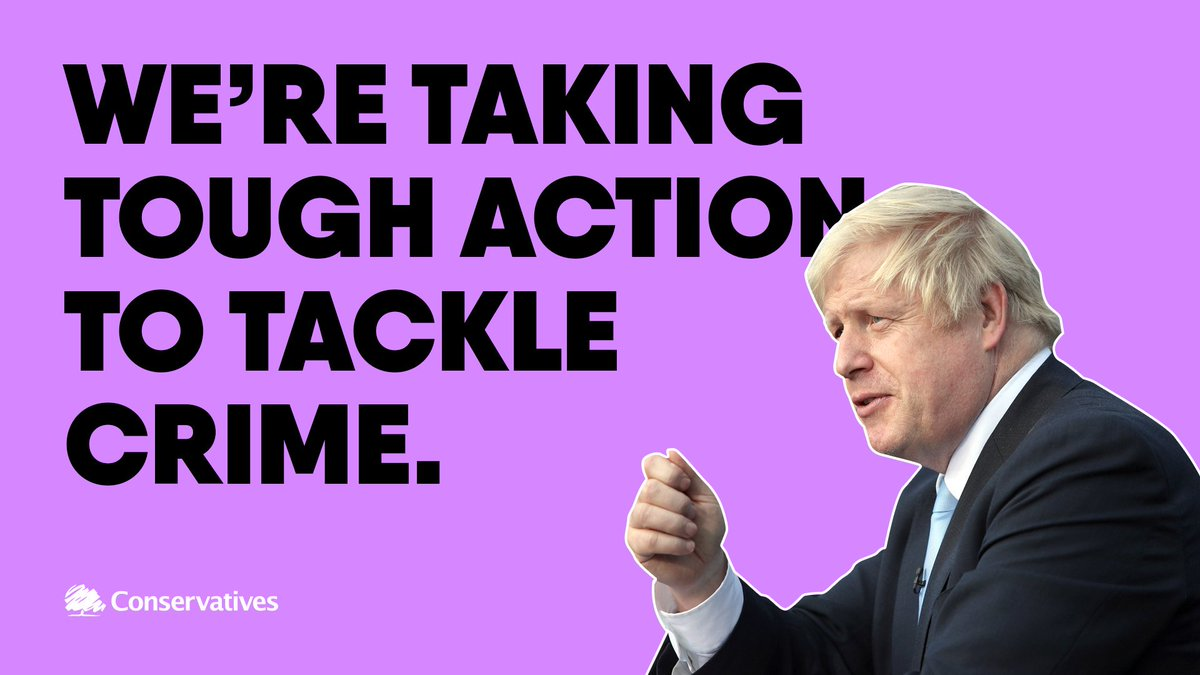 🔵 20,000 more police 🔵 Tougher prison sentences 🔵 Stop and search powers @BorisJohnson is taking serious action to make your streets safer.