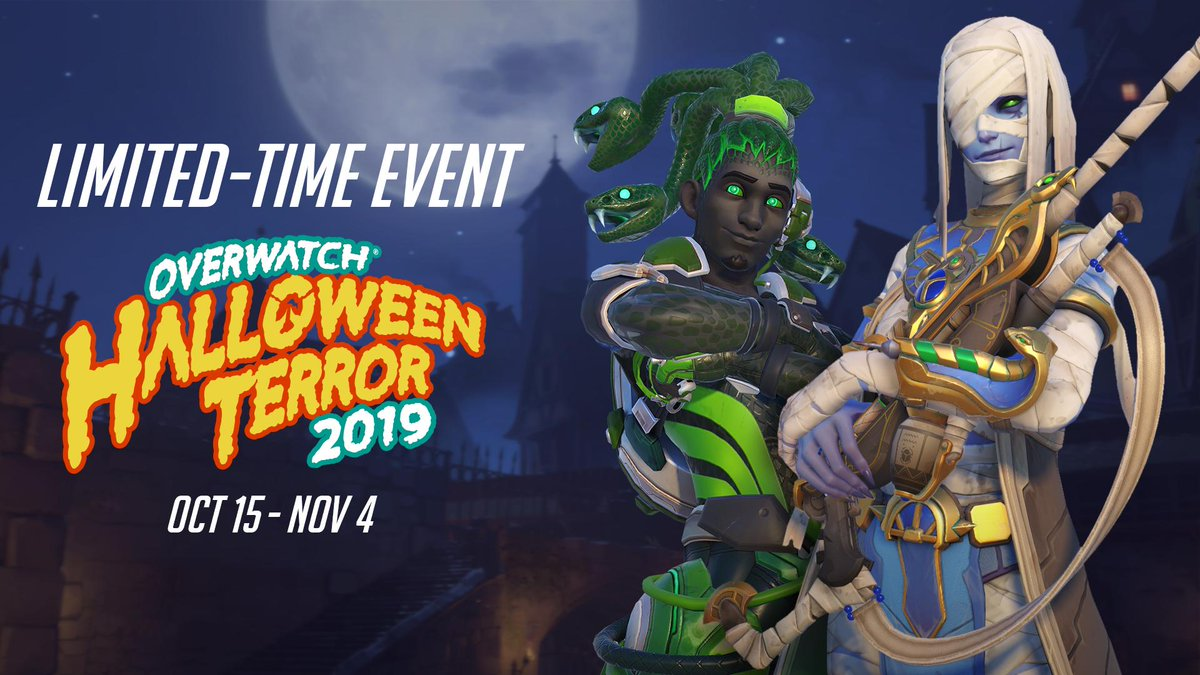 "RT <a href=""https://twitter.com/PlayOverwatch"" rel=""nofollow"" target=""_blank"" title=""PlayOverwatch"">@PlayOverwatch</a>: No more ghouling around!  Overwatch Halloween Terror begins NOW.  🎃👻 <a href=""http://Blizz.ly/OHT2019"" rel=""nofollow"" target=""_blank"" title=""http://Blizz.ly/OHT2019"">Blizz.ly/OHT2019</a> https://t.co/3lPxjmg7uC."