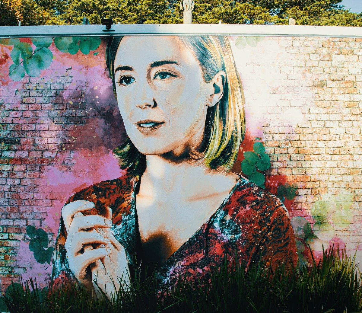 This mural depicting my dead good friend Sonya is based on my bedroom wall. #TrueStory #Neighbours<br>http://pic.twitter.com/Gb1ukLBqFc
