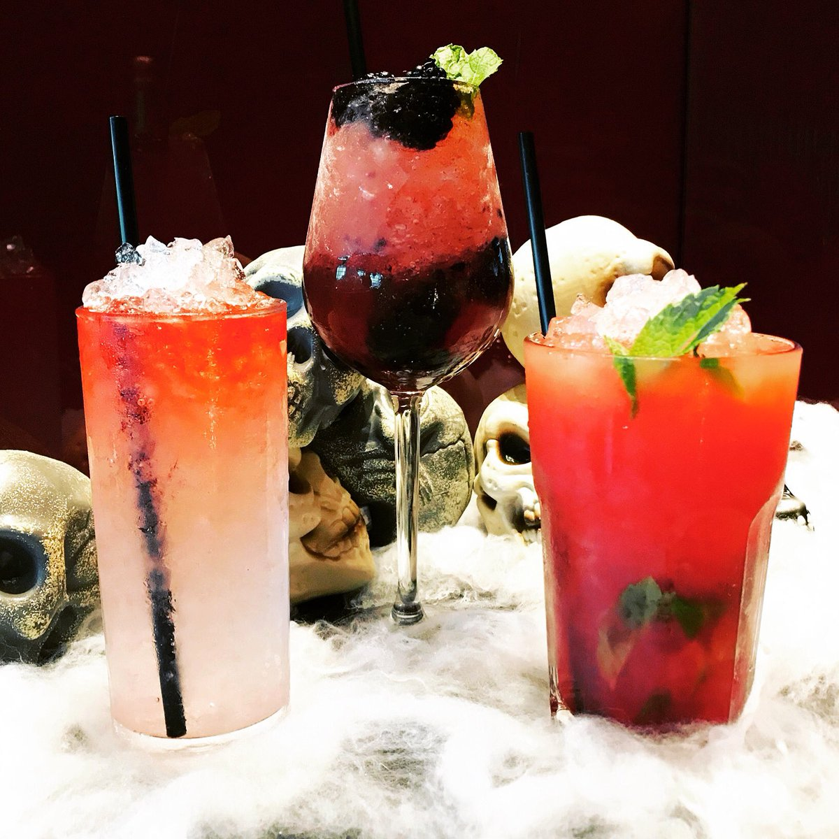 Like the look of these bad boys?! 🎃💀😉  Well it's #241 all day EVERYDAY from 8-11pm!! 🙌🏼🙌🏼  Grab a bargain #Halloween #cocktail & bag yourself an entry into our #prizedraw to win a years supply of #BACARDI! 🥳🥳  Winner announced on #BloodThirstyThursday (31 October!🦇)