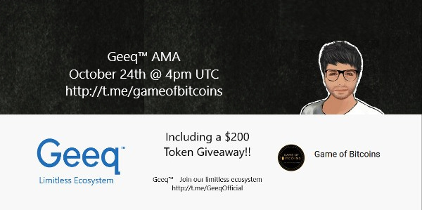 How about an AMA with one of our partners, @GeeqOfficial ? ☺️